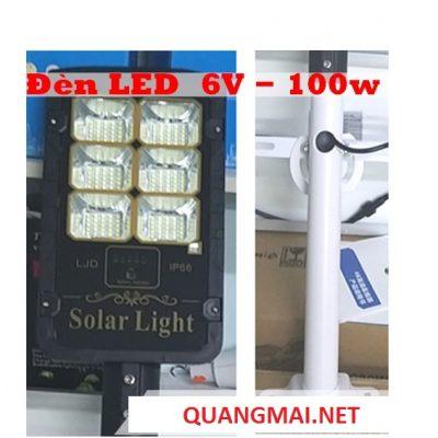 Đèn LED năng lượng mặt trời SOLAR LJD 6V-100W (Bao gồm tấm pin, chân đế)