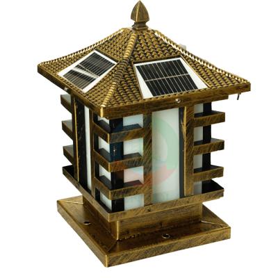 Đèn trụ cổng vuông (đồng)