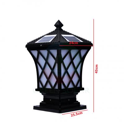 Đèn trụ cổng lưới cá nhỏ (25,5cm x 45cm)