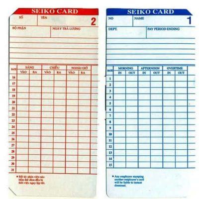 Thẻ giấy chấm công (hàng VN)