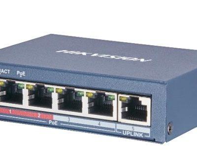 4-port 10/100Mbps PoE Switch HIKVISION DS-3E0105P-E(B)