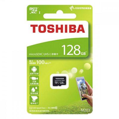 Thẻ nhớ Toshiba 128GB MicroSD EXCERIA M203 UHS-1 Class 10 (R100)