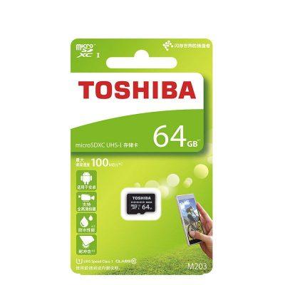 Thẻ nhớ Toshiba 64GB MicroSD EXCERIA M203 UHS-1 Class 10 (R100)