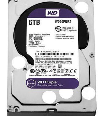 Ổ cứng chuyên dụng 6TB WESTERN PURPLE WD60PURZ