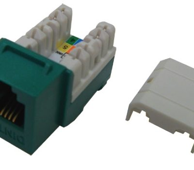 Modular Jack – ổ cắm thoại RJ11 Keystone Jack Dintek Cat.3 unshielded (1305-01006)