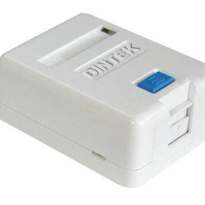 Ổ mạng nổi 1 port Dintek – Surface mount box (1301-02012)