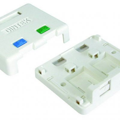 Ổ mạng nổi 2 port Dintek – Surface mount box (1301-02013)