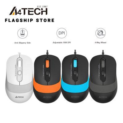 Mouse A4 Tech FG20 (xám,cam,xanh,trắng)