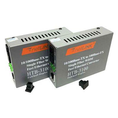 Bộ chuyển đổi quang điện NETLINK HTB-3100AB( Bộ gồm 2 chiếc, 2 Adapter)