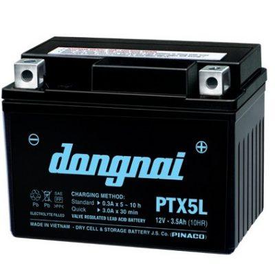 Ắc quy gắn máy 12V-3.5Ah Đồng Nai Pinaco PTX5L ĐN