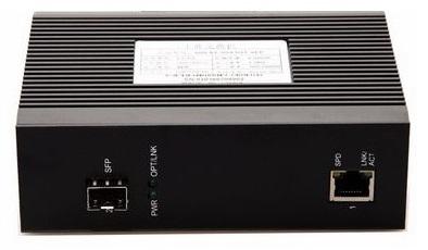 1-port 10/100Mbps Industrial Fiber Unmanaged Switch BTON BT-I950SM-S