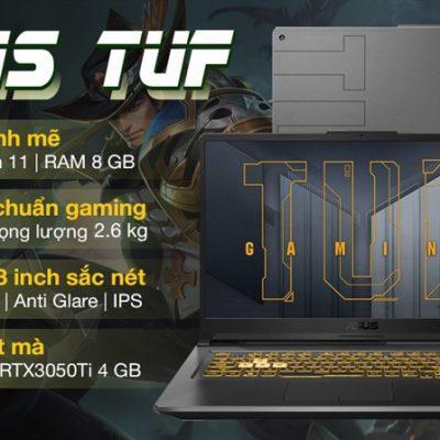 Laptop Asus TUF Gaming FX706HE i7 11800H/8GB/512GB/4GB RTX3050Ti/144Hz/Win10 (HX011T)