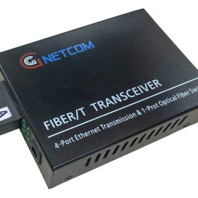 Converter quang Gnetcom 4 Cổng Ethernet 10/100M I PN: GNC-1114S-20A/B